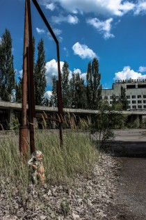 Nuclear desolation at Prypiat main square Ukraine OC