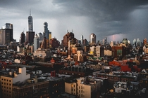 NYC during last nights storm