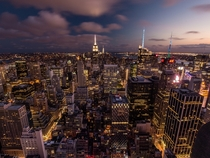 NYC from the top of the Rockefeller Center