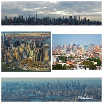 nyc multiple skylines midtown  downtown and brooklyn skyline
