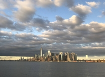 NYC Skyline View from SI Ferry
