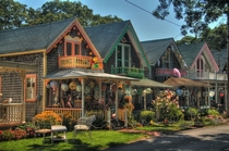 Oak Bluffs an island village of gingerbread and cape cod architecture