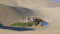 Oasis in the Gobi Desert