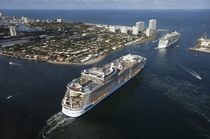Oasis of the Seas and Independence of the Seas Off Port Everglades