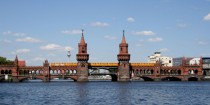 Oberbaumbrcke in Berlin Germany A double-deck bridge connecting two parts of the city that were divided by the Berlin Wall