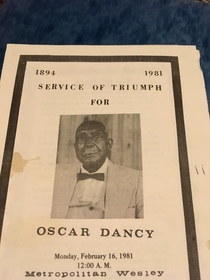 Obituary of one Oscar dancy found  forest haven