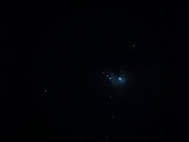 Observing the Orion Nebula in an  inch Dobsonian telescope
