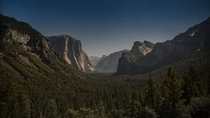OC -Blood Moon Tunnel View - Yosemite at Midnight - Oct  -