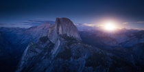 OC - Blood Moonrise - Yosemite During the Big Blood Moon on  -