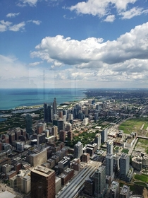 OC Chicago from the th floor of the Sears Tower Sorry for the reflection