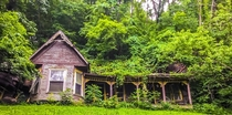 OC House in our woods It was moved here in pieces in  after the Ohio River flood of  Slowly its being reclaimed by nature NashvilleIN