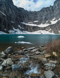 OC  Iceberg Lake Glacier National Park  x