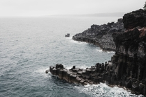 OC - Lava-Formed Hexagonal Cliff Rocks in Jeju-do Korea