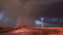 OC lightnig strike in petrified forest national park AZ sorry a bit small