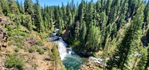 OC photo taken of a waterfall near Mount Shasta Resolution x