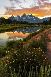 OC - Sunsets in Grand Teton National Park are something else Wouldnt you agree