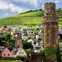 Ochsenturm Oxen Tower Oberwesel on the Rhine River Germany