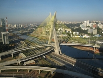 Octavio Frias de Oliveira Bridge So Paulo Brazil
