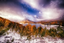 October snows of Silver Jack Reservoir Colorado  by Lars Leber