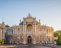 Odessa Opera amp Ballet Theater built in  to replace previously fire destroyed theater Designed by Fellner amp Helmer Odessa Ukraine