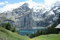 Oeschinen Lake Bernese Alps Switzerland