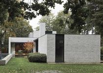Office and private residence made of three volumes in different heights with separate functions Sint-Martens-Latem Belgium by Juma Architects