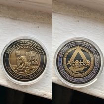 Official NASA Apollo  th anniversary coin minted with metal from the Apollo  command module flown to the moon