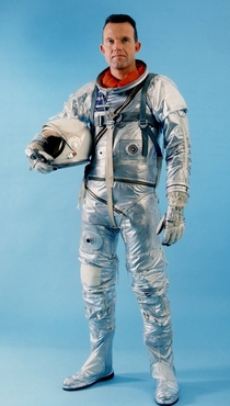 Official portrait of Gordon Cooper while wearing the Mercury spacesuit  xpost rTechnologyPorn