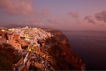 Oia Santorini Greece at dusk x by Mike Lewis