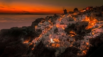 Oia Santorini Greece at sunset