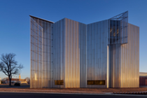 Oklahoma Contemporary Arts Center has opened its new Rand Elliott Architects-designed building in downtown Oklahoma City USA The  sq ft structure is inspired by the Oklahomas famous big skies and changing weather designed to honor the landscapes ever-chan