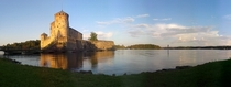 Olavinlinna St Olafs Castle the worlds most northern intact medieval castle Finland Cell phone photo