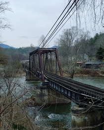 Old abandoned bridge I stumbled upon in Cherokee North Carolina No regrets on pulling over to take some photos