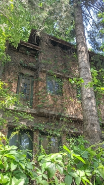 Old abandoned building in Bucharest Romania