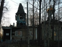 Old abandoned church in Karelia Russia It still has some old stuff incide so people closed windows to prevent looting