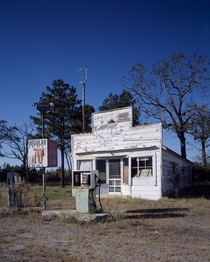 Old abandoned gas station in North Carolina ca  by Carol M Highsmith