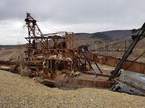 Old abandoned gold dredge at chatanika Alaska More pictures on my profile