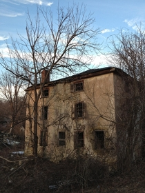 Old abandoned house out in the woods of Whitemarsh Pennsylvania