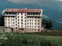 Old Abandoned Insane Asylum in the Mountains of Leysin Switzerland