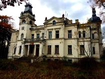 old abandoned mansion in Poland A few years ago there was a school here now there is only silence