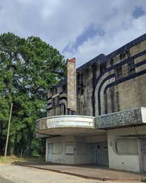 Old abandoned theater Overton Texas