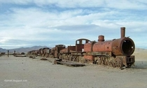 Old Abandoned Train in Bolivia