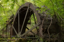 Old abandoned water wheel