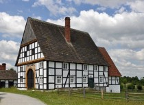 Old architecture at open air museum in Detmold Germany