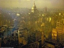Old Bailey Stands Tall London During the Blitz