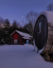 Old Barn and Hot steam sauna found in the Adirondacks