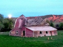 Old barn  years old - Ten Sleep WY  iPhone shot
