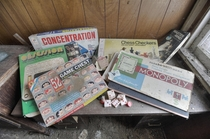 Old Board Games Found Inside an Abandoned Time Capsule House