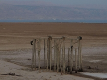 Old Boat Pier Didnt Get the Memo About the Dead Sea Shrinking