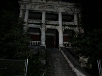 Old building in a abandoned insane asylum campus